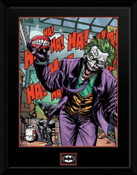Framed poster DC Comics - Joker Teeth