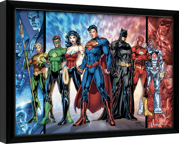 Framed poster DC Comics - Justice League United