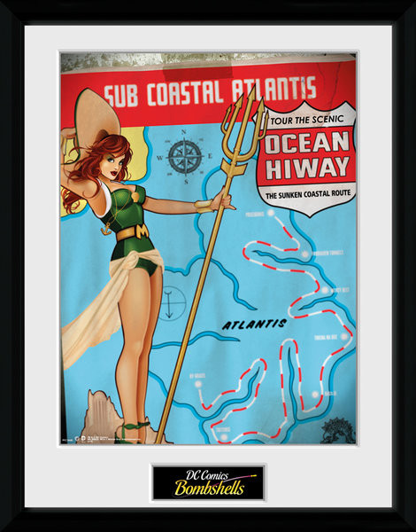 DC Comics - Mera Bombshells Framed poster