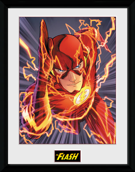 Framed poster DC Comics - The FLash Justice League