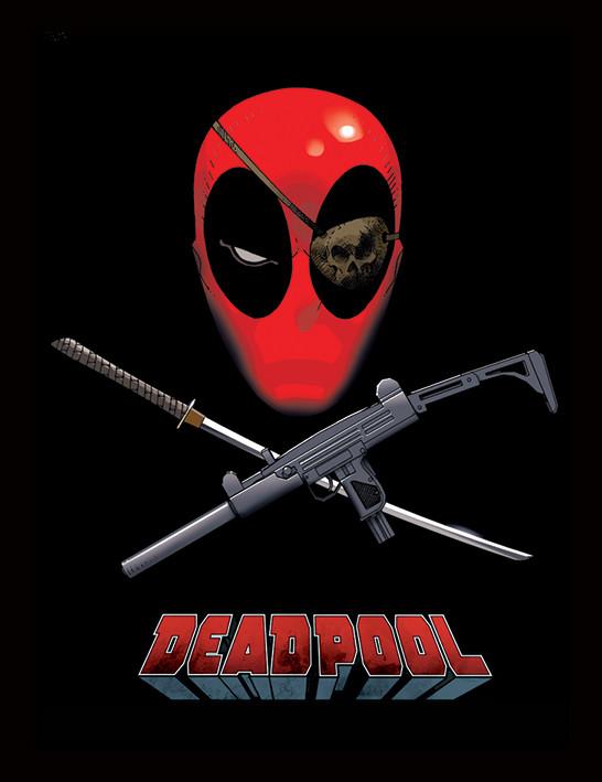 Deadpool - Eye Patch Framed poster