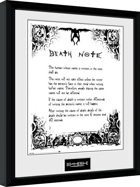 Framed poster Death Note - Death Note