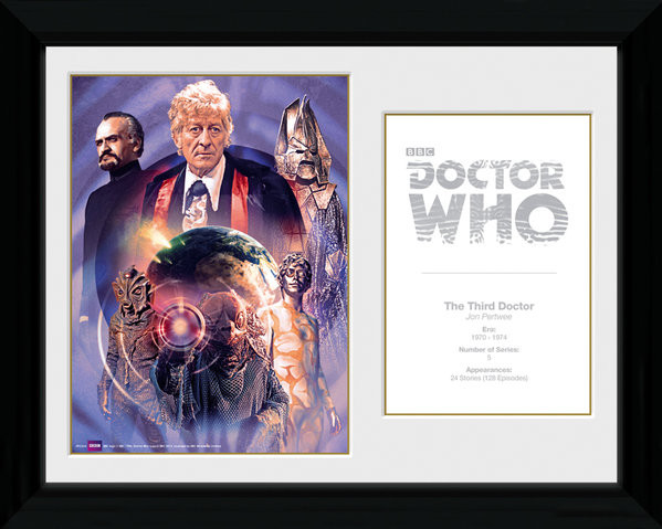 Doctor Who - 3rd Doctor Jon Pertwee Framed poster
