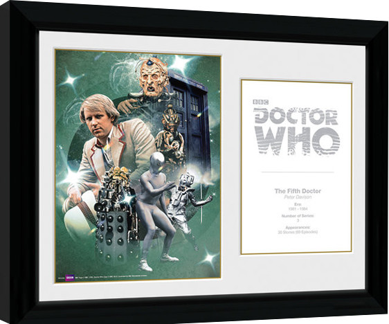 Framed poster Doctor Who - 5th Doctor Peter Davison