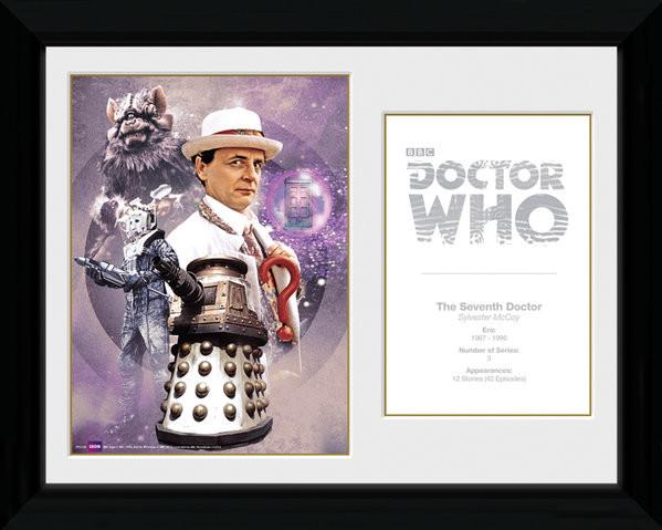Doctor Who - 7th Doctor Sylvester McCoy Framed poster