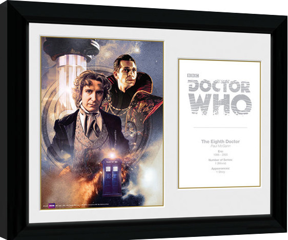 Framed poster Doctor Who - 8th Doctor Paul McGann