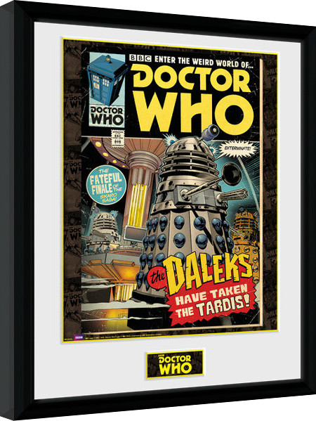 Doctor Who - Daleks Tardis Comic Framed poster