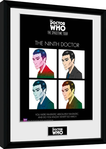 Doctor Who - Spacetime Tour 9th Doctor Framed poster