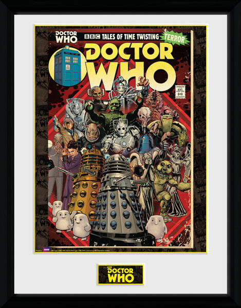 Framed poster Doctor Who - Villains Comic