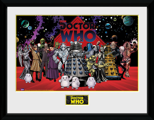 Doctor Who - Villains Landscape Framed poster