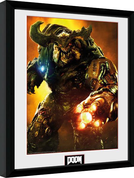Framed poster Doom - Cyber Demon