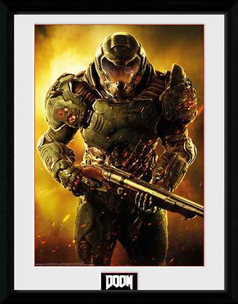 Framed poster Doom - Marine