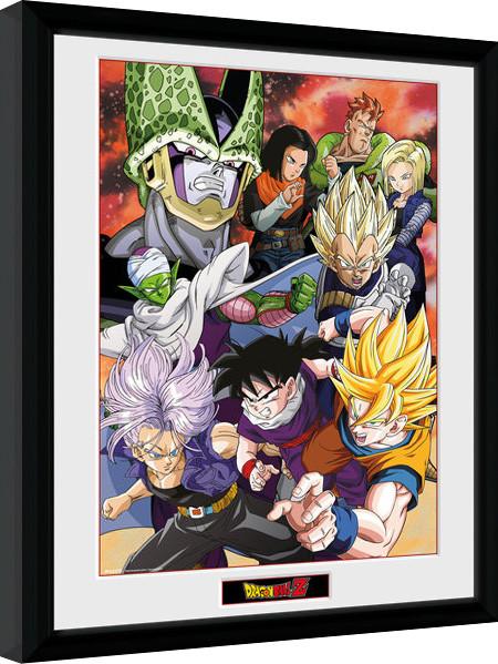 Framed poster Dragon Ball Z - Cell Saga