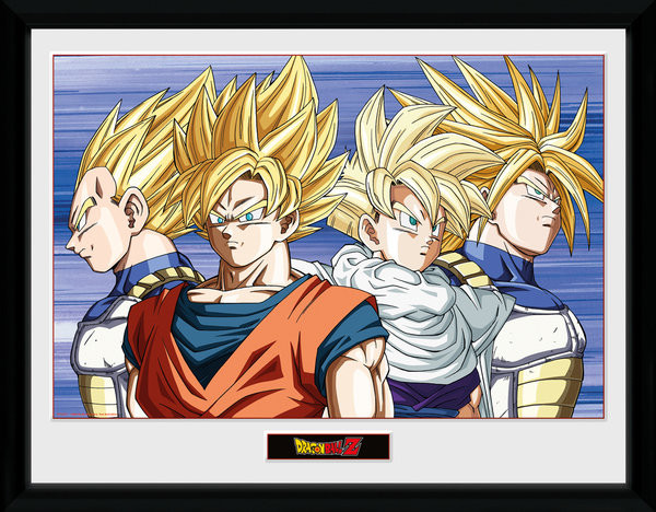 Dragon Ball Z - Group Framed poster