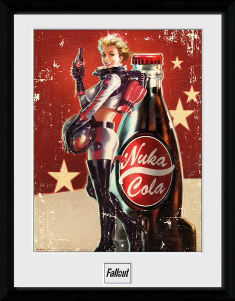 Framed poster Fallout 4 - Nuka Cola