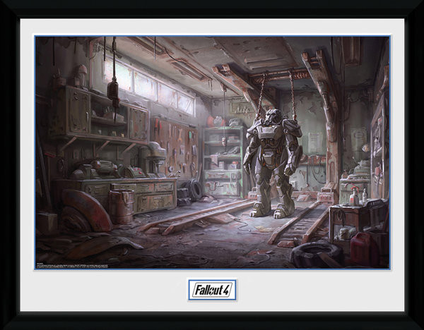 Framed poster Fallout 4 - Red Rocket Interior