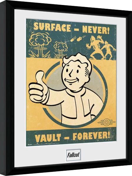 Framed poster Fallout 4 - Vault Forever