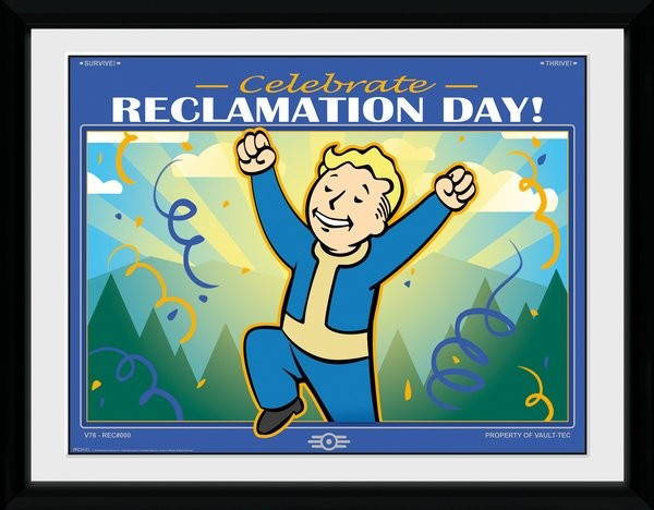 Fallout 76 - Reclamation Day Framed poster