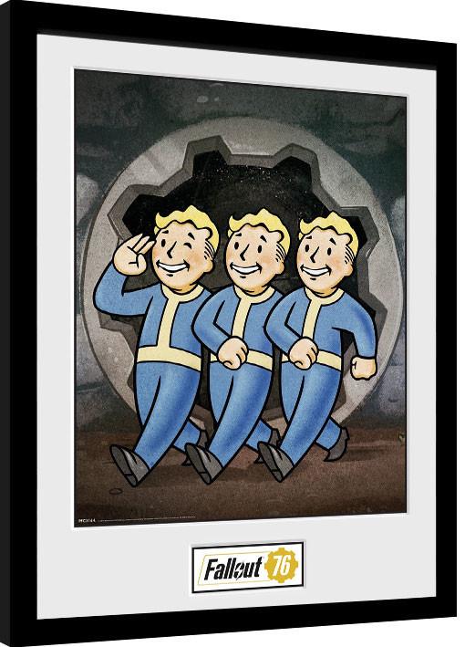 Framed poster Fallout 76 - Vault Boys