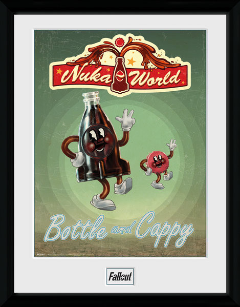 Fallout - Bottle and Cappy Framed poster