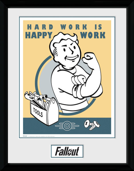 Fallout - Hard Work Framed poster
