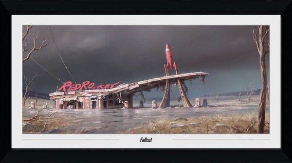 Framed poster Fallout - Red Rocket