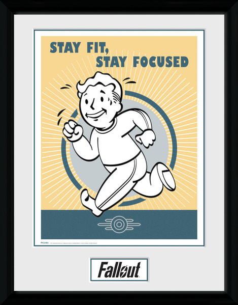 Fallout - Stay Fit Framed poster