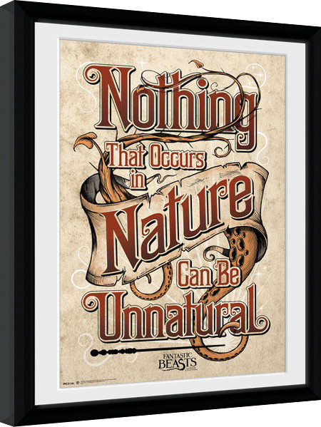 Fantastic Beasts And Where To Find Them - Nature Framed poster