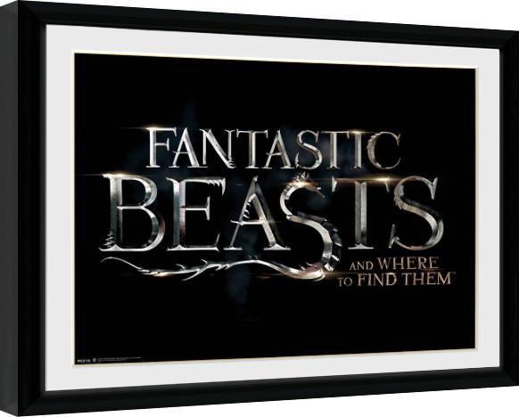Framed poster Fantastic Beasts - Logo
