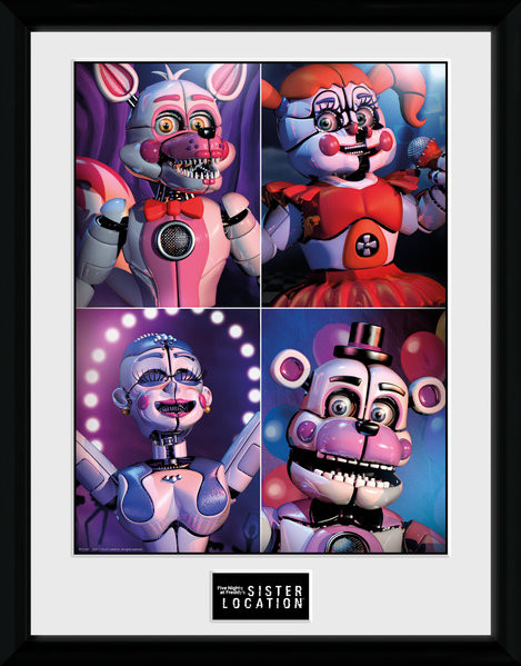 Five Nights at Freddys - Sister Location Quad Framed poster