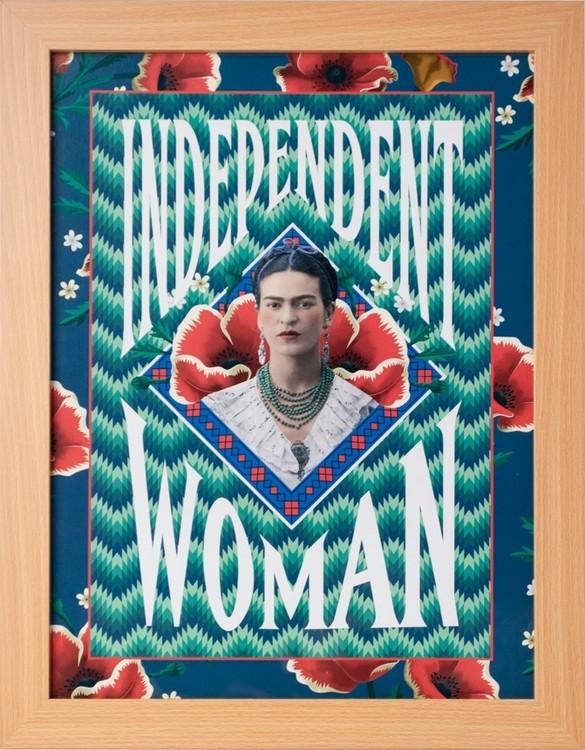Framed poster Frida Kahlo - Independent Woman