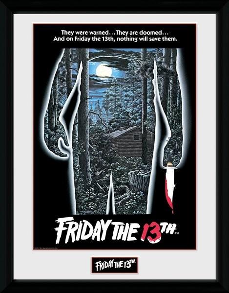 Framed poster Friday The 13th - Warning