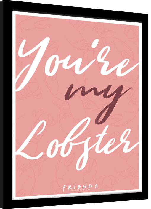 Framed poster Friends - You're My Lobster