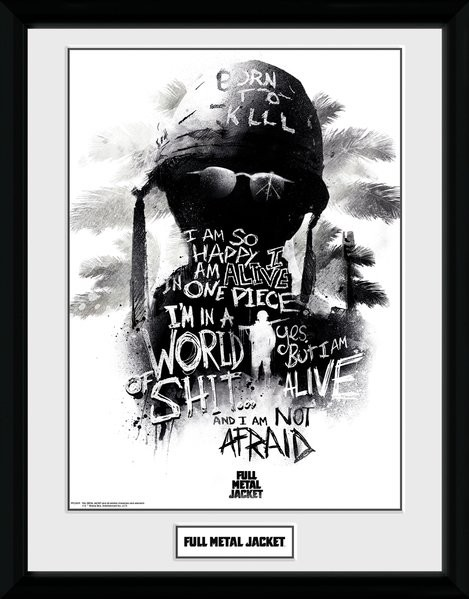 Full Metal Jacket - I Am Not Afraid Framed poster