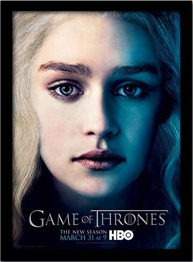 GAME OF THRONES 3 - daenery Framed poster