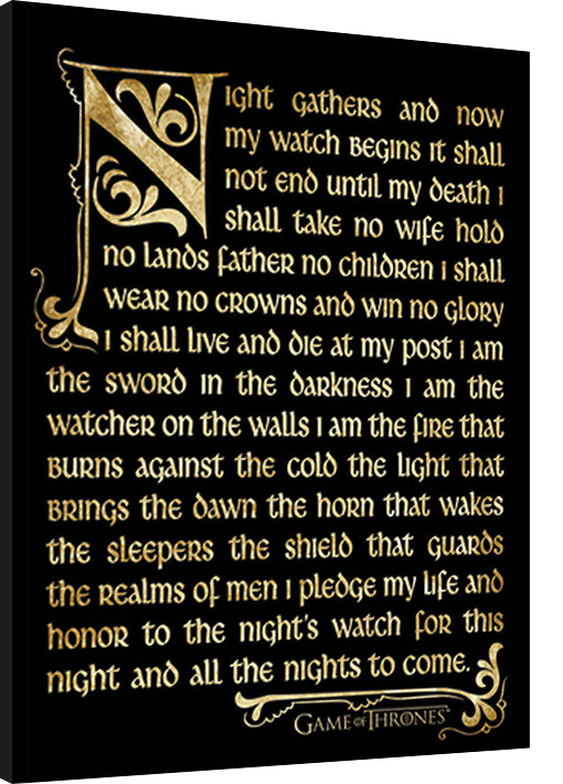 GAME OF THRONES 3 - nightwatch Framed poster