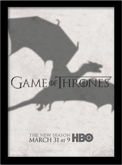 GAME OF THRONES 3 - shadow Framed poster
