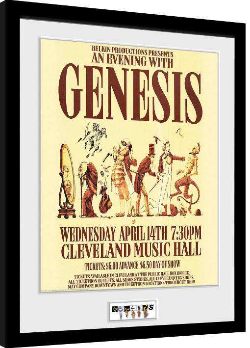 Framed poster Genesis - Cleveland