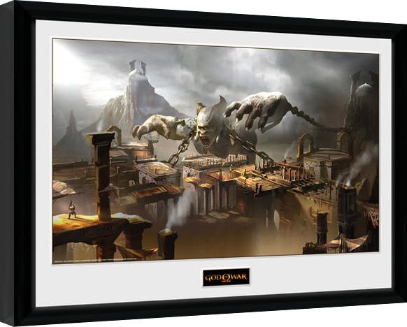 God of War - Concept Art Canyon Framed poster