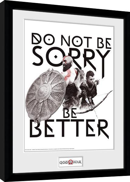 Framed poster God Of War - Don't Be Sorry