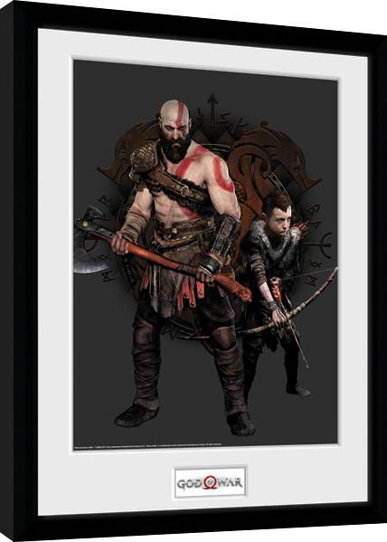 Framed poster God Of War - Kratos and Atreus