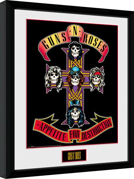 Framed poster Guns N Roses - Appetite