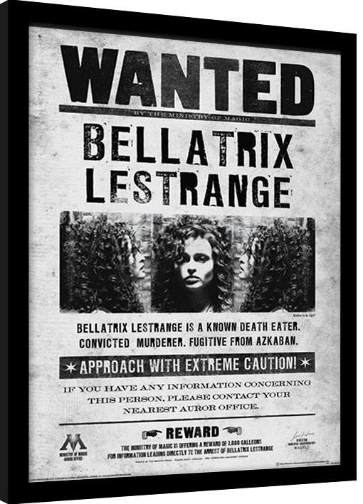 Harry Potter - Bellatrix Wanted Framed poster