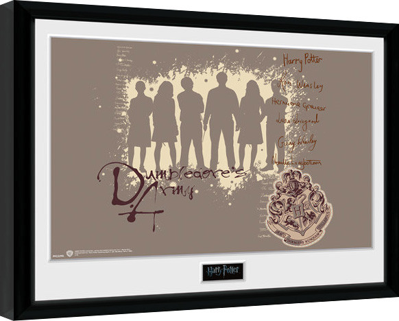 Framed poster Harry Potter - Dumbledore's Army