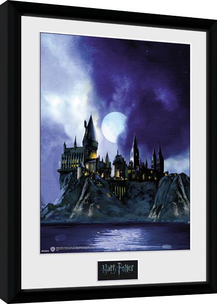 Framed poster Harry Potter - Hogwarts Painted