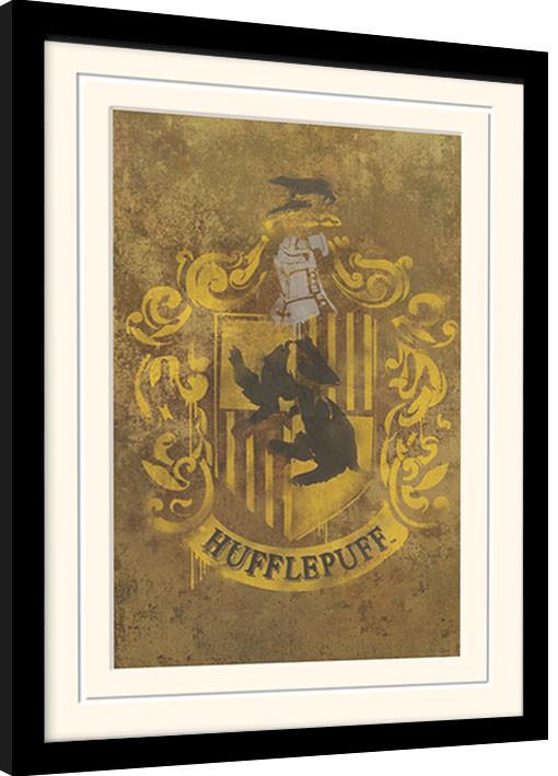 Framed poster Harry Potter - Hufflepuff Crest