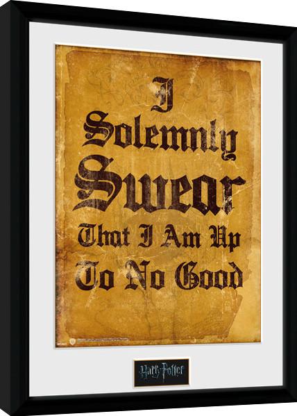 Framed poster Harry Potter - I Solemnly Swear