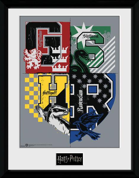 Harry Potter - Letter Crests Framed poster