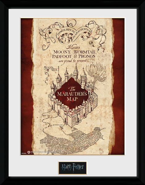 Harry Potter - Marauder's Map Framed poster