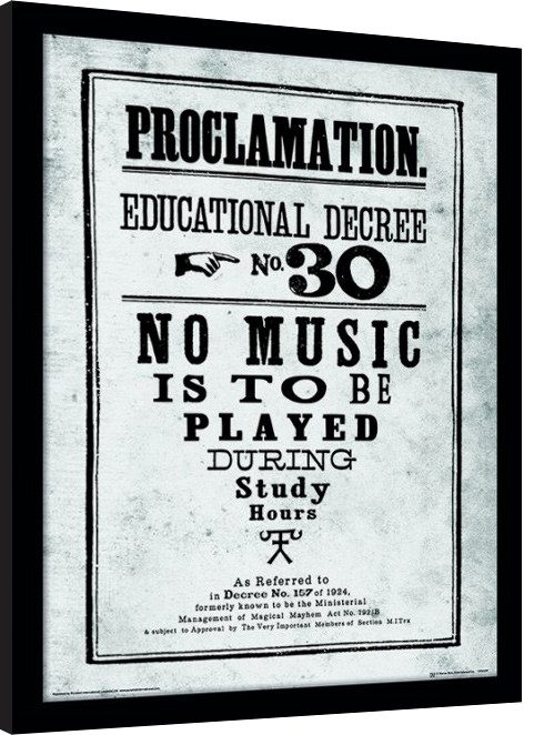 Harry Potter - Proclamation Framed poster | Buy at Europosters